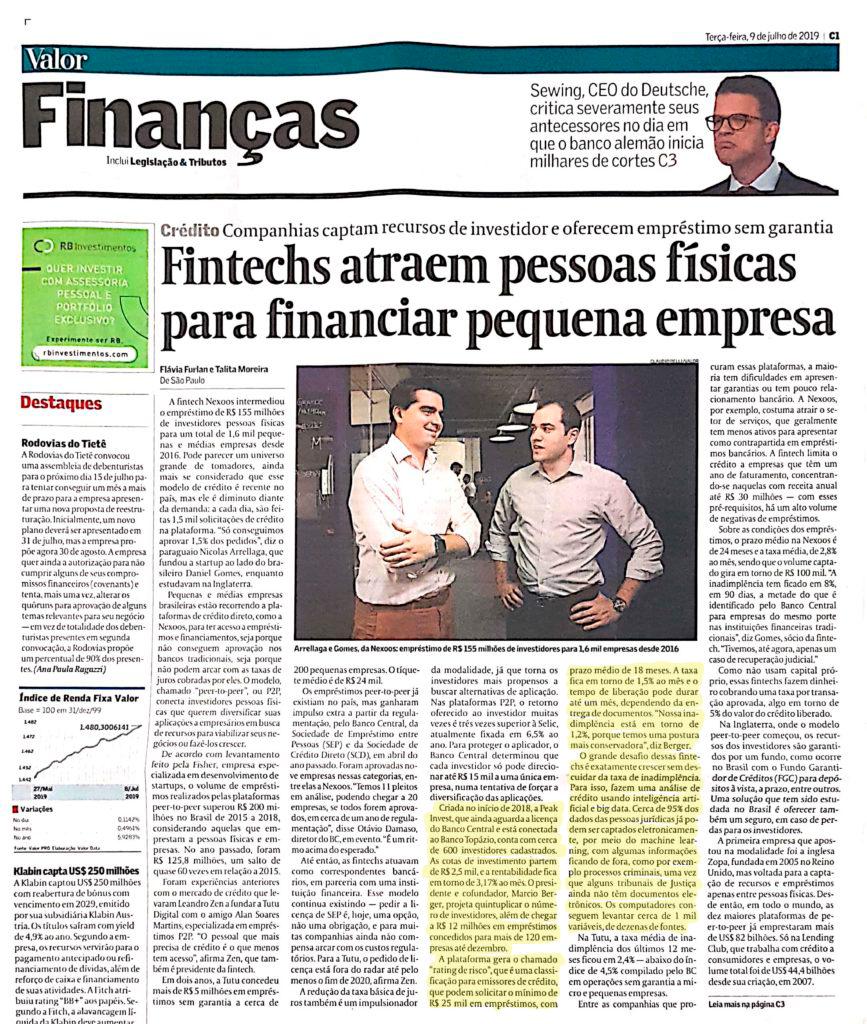 Fintechs atraem pessoas físicas para financiar pequena empresa. 1